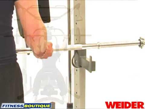 Panca Multifunzione Weider Smith Machine Youtube