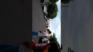 Suzuki hayabusa fails on a wheelie stunt