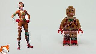 LEGO Fortnite Gingerbread SKIN MOC Minifigure - Yummy Cookies lol