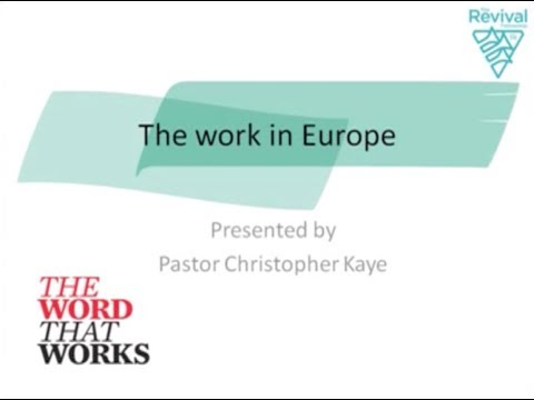 WORK: The Work In Europe presented by Pr Christopher Kaye