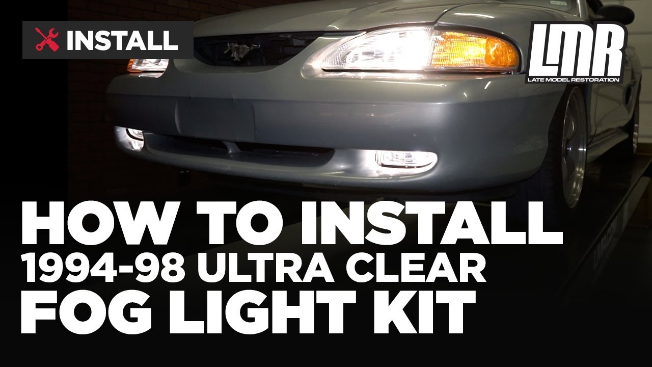 1994-1998 mustang gt ultra clear fog light kit - install & review