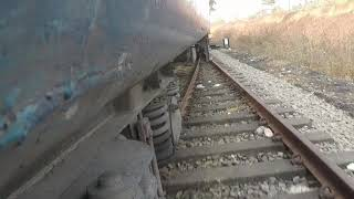 Train  track changing caught in GOPRO