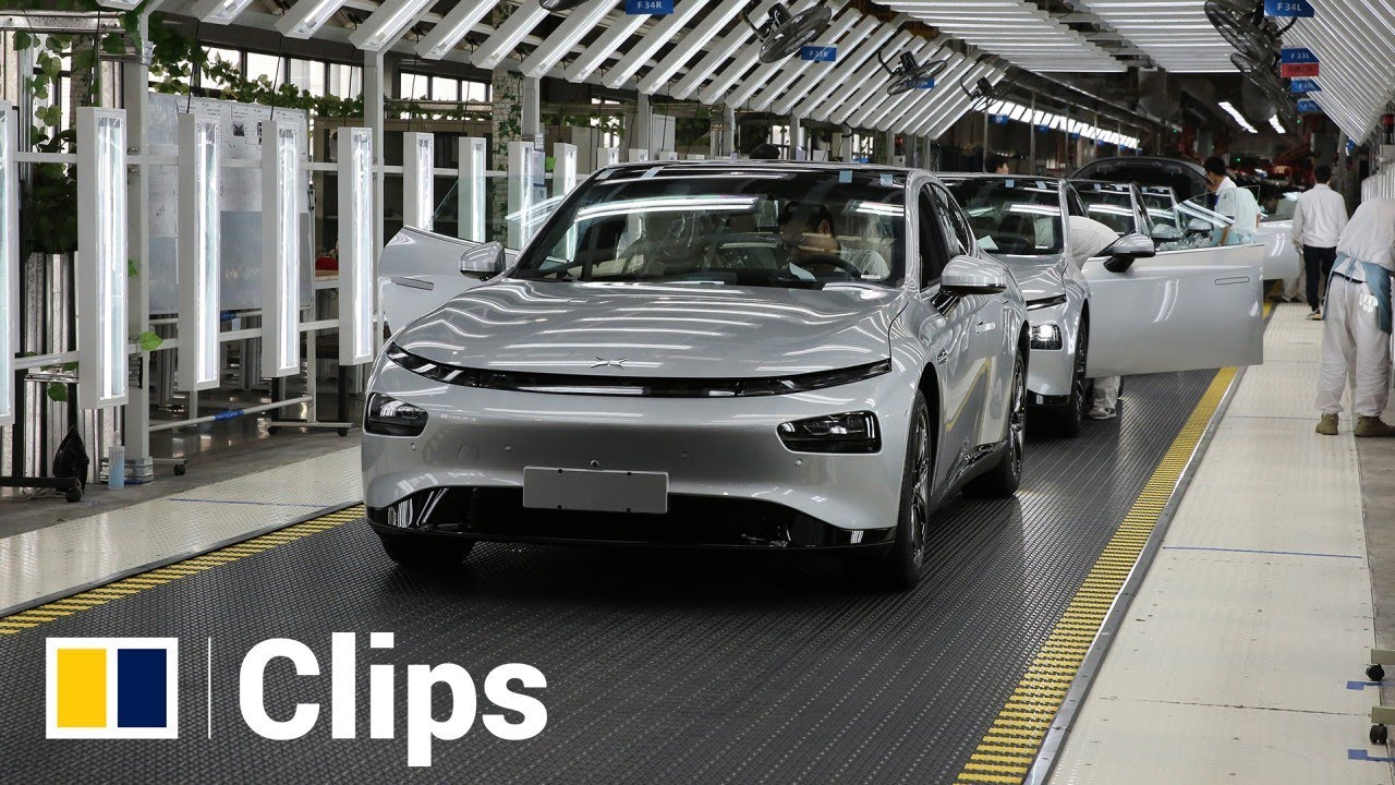 Inside Chinese electric vehicle maker Xpeng's factory in Zhaoqing city