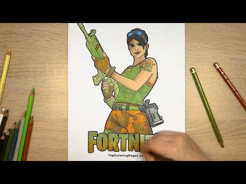Fortnite Coloring Page 🎮 For Gamers Battle Royale