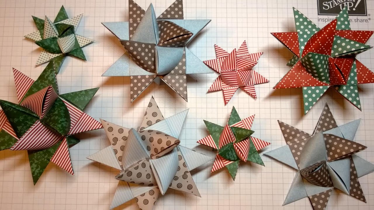 Fröbel Stern Fröbelstern - How To Make An Origami Froebel Star - Youtube