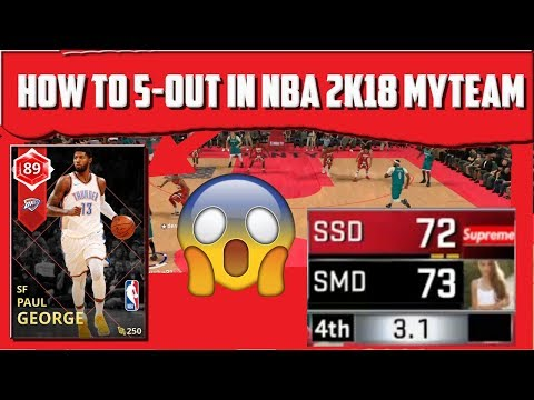 HOW TO 5-OUT CHEESE AFTER PATCH 8 - Featuring Ruby Paul George Gameplay - NBA 2K18 MyTEAM Gameplay