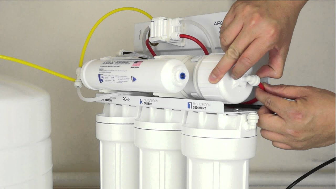 hight resolution of how to replace your reverse osmosis filters and membrane apec water installation part 6