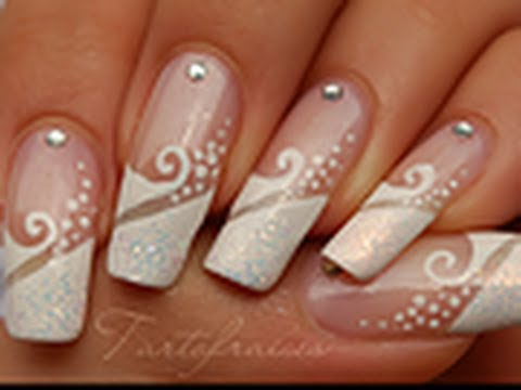 Nail Art French Manucure De Mariage Youtube