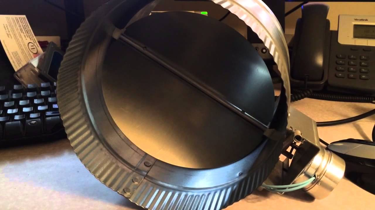 HVAC Electronic Duct Damper - Controlled by Raspberry Pi