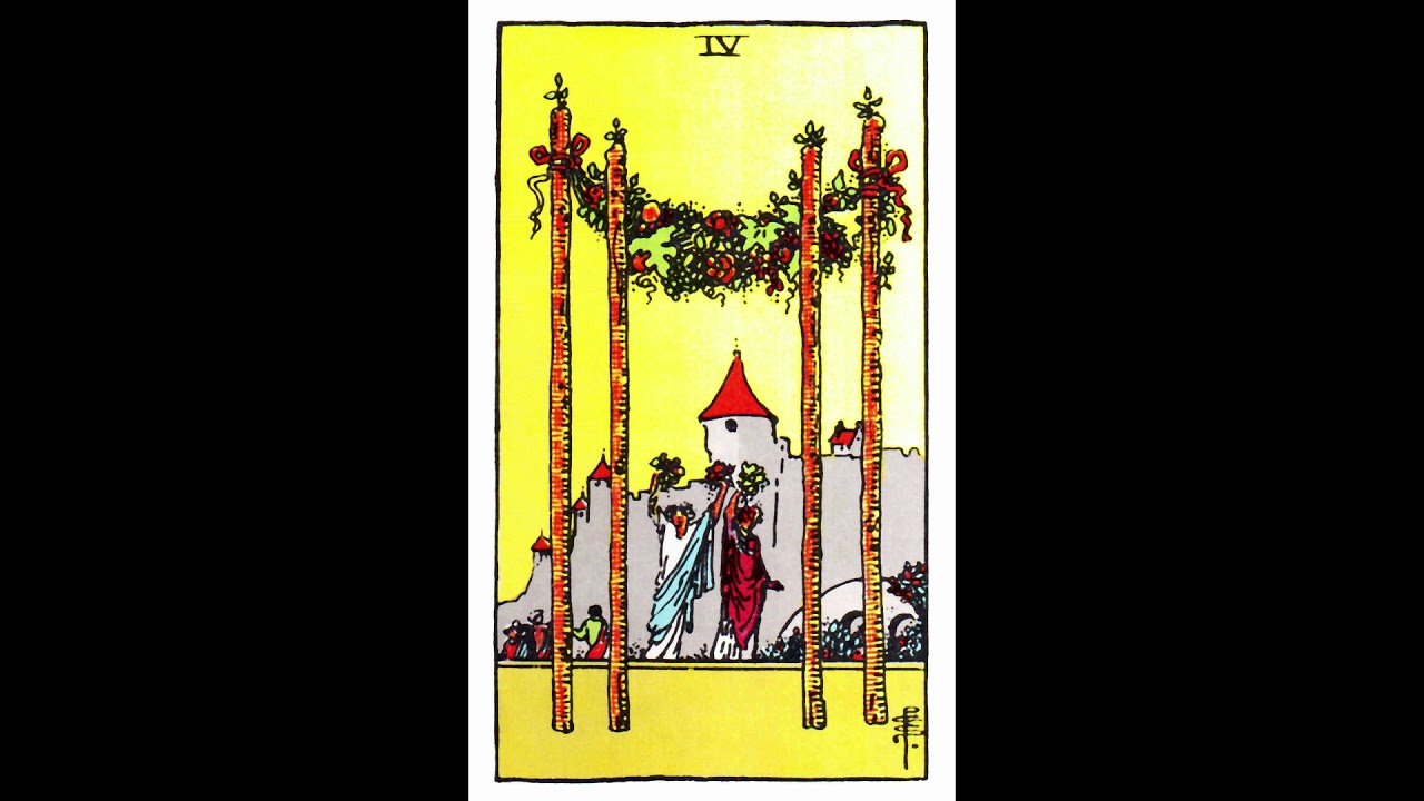 (The FOUR OF WANDS) Meaning For TWIN FLAMES