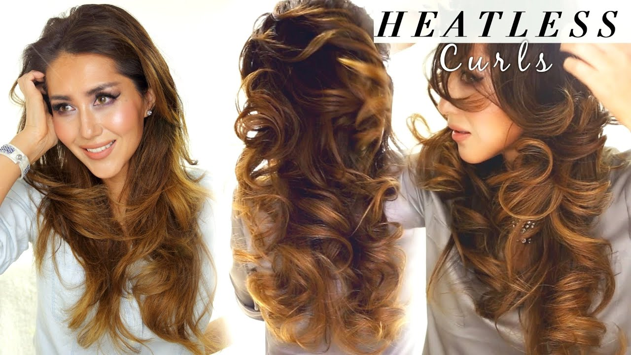 2 ☆ LAZY HEATLESS CURLS | Overnight Waves HAIRSTYLES | HACKS - YouTube