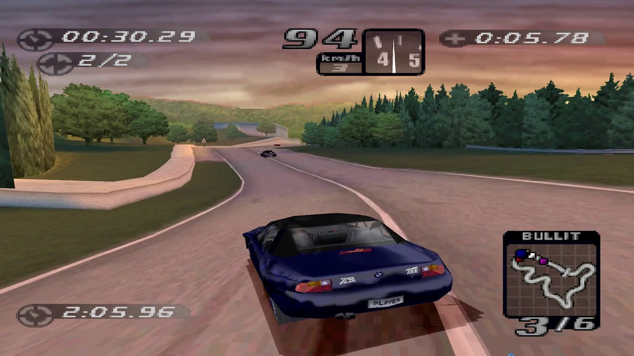 Sony PS1 PCSX Reloaded Need for Speed High Stakes FULL HD