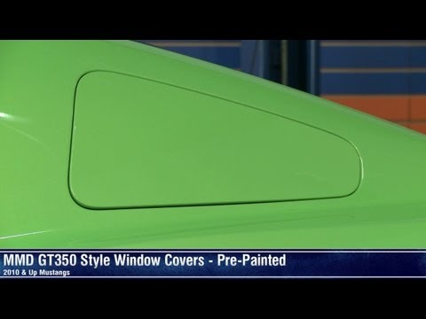 Mustang MMD GT350 Style Window Covers - Pre-Painted (10-14 All) Review