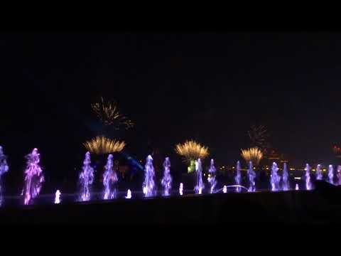 Doha Katara cultural village fire work During Eid 2017