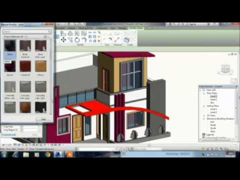 Revit architecture modern house design youtube for Revit architecture modern house design
