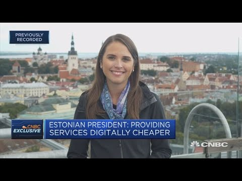 Estonian president: We have a generation grown up communicating digitally | Squawk Box Europe