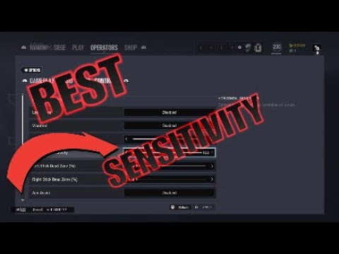 BEST Sensitivity on Console!!!-Rainbow six siege