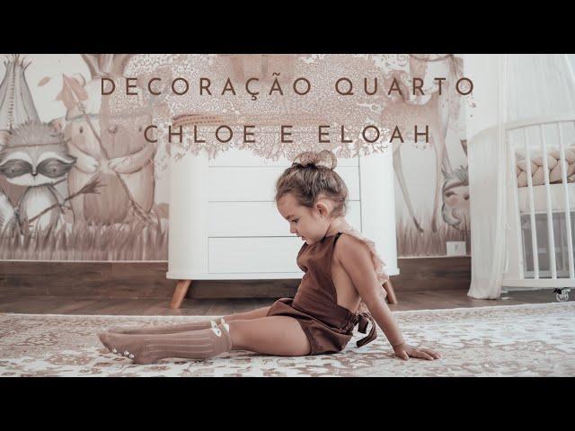 Decoração de quarto para duas meninas Chloe e Eloah