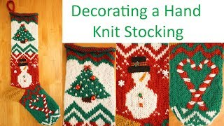 Decorating Hand Knit Stockings | Christmas DIY