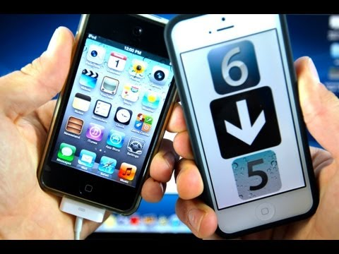 How To Downgrade iOS 6 to 5.1.1 iPhone 4/3Gs iPod 4G & iPad 2 - Mac & Windows + Jailbreak Untethered