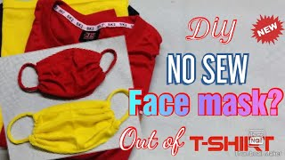 How to make face mask    NO Sewing machine! Diy face mask