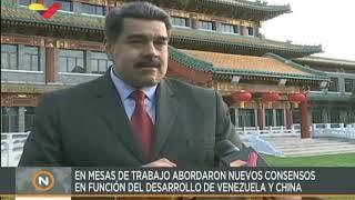 Maduro entrevistado desde China ofrece un balance de su gira, 15 septiembre 2018