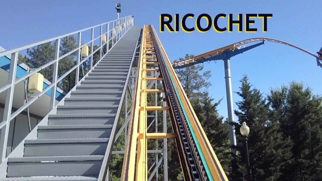 ricochet pivothead pov kings dominion roller coaster front seat on