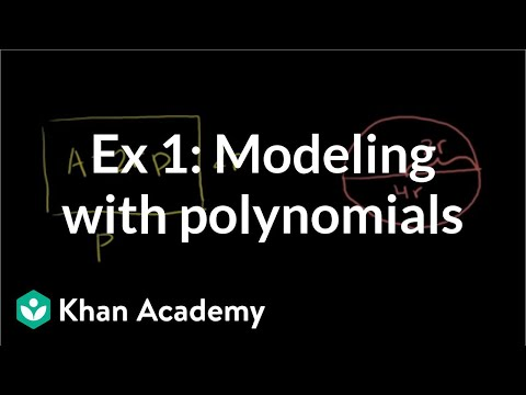Example 1: Modeling with polynomials | Algebra I | Khan Academy