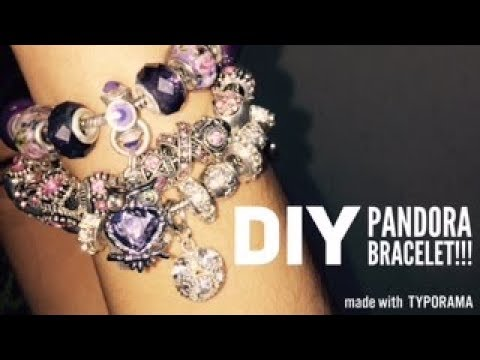 DIY Style Pandora Bracelet with Crystal beads and charms