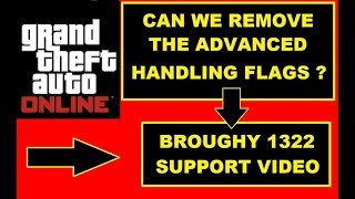 GTA Online getting Advanced Handling Flags removed , Support video , GTA fastest Cars