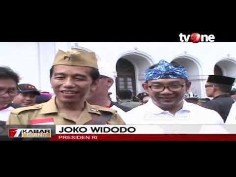 Peringati Hari Pahlawan Di Bandung, Jokowi Lepas 20 Ribu Pesepeda