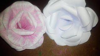 কিভাবে বানাবেন কাগজের গোলাপ - How to make Rose in paper (Bangla science Ep-3)