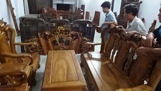 Khách từ Đình Trám, Bắc Giang về mua Hoành phi, câu đối, 18-9-2016, Đồ Gỗ Đức Hiền