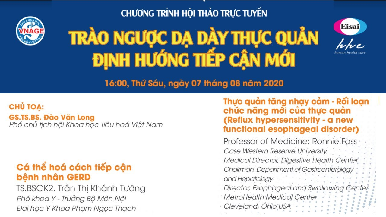 TRÀO NGƯỢC DẠ DÀY THỰC QUẢN ĐỊNH HƯỚNG TIẾP CẬN MỚI:Prof Ronnie Fass +TS.BSCK2. Trần Thị Khánh Tường