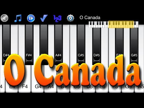 O Canada - How To Play The Piano Melody