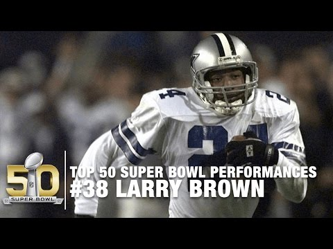 #38: Larry Brown Super Bowl XXX Highlights | Top 50 Super Bowl Performances