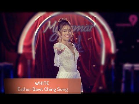 အဖြူရောင် - အက္စတာ White by  Esther Dawt Chin Sung With Lyric (CC)