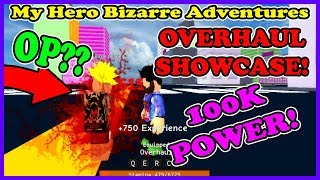 [**OP** OVERHAUL SHOWCASE ] My Hero Bizarre Adventures | Roblox