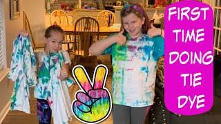 DIY Tie Dye | First Time Tie Dying