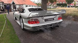 Mercedes-Benz CLK GTR - Start Up, SOUNDS & Driving On The Road