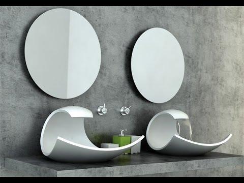 Diseños de lavabos para cuartos de baño, modelos originales - YouTube