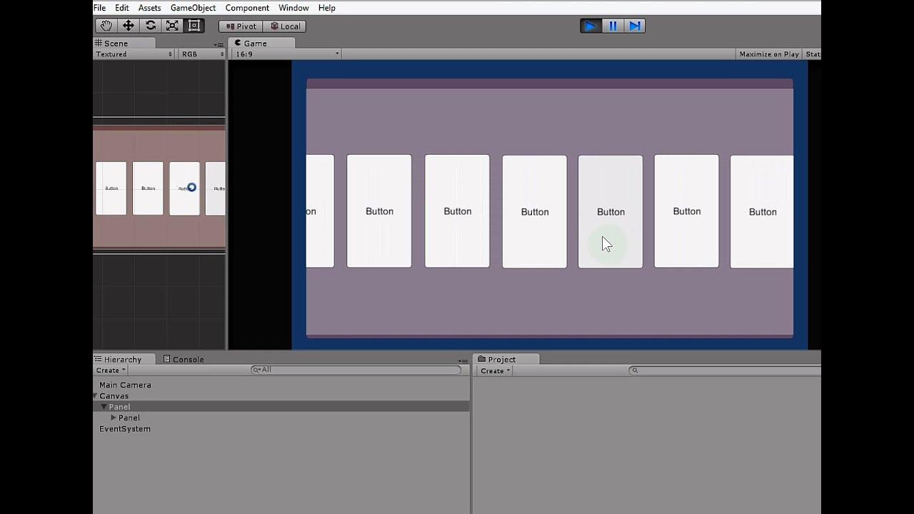 Unity 4 6 UI Mask ve ScrollView (Seçenek menüsü)