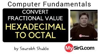 Convert Fractional value from Hexadecimal to Octal