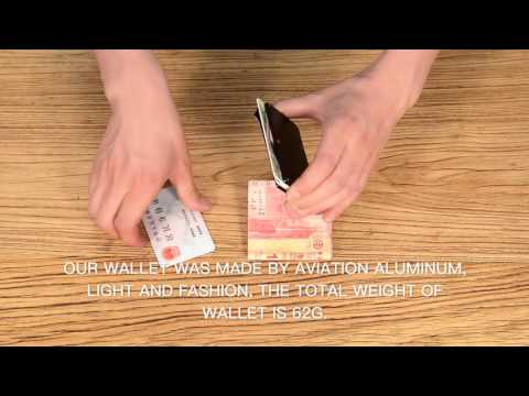 Money Clip Aluminium Wallet