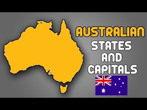 Australia Map States And Capitals.Learn Australian States It S Capitals Territories Australian Map General Knowledge Video