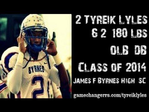 #2 Tyreik Lyles / OLB,DB / James F. Byrnes High (SC) Class of 2014