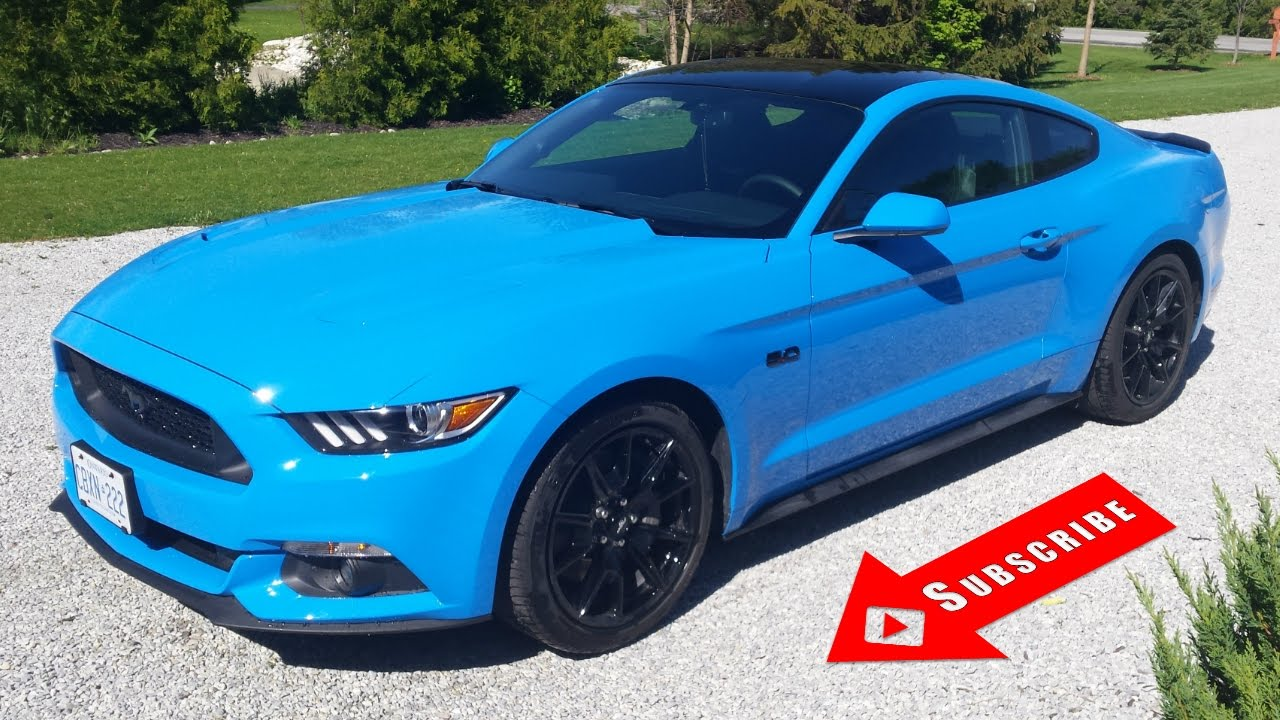 Grabber blue 2017 mustang gt loud start up