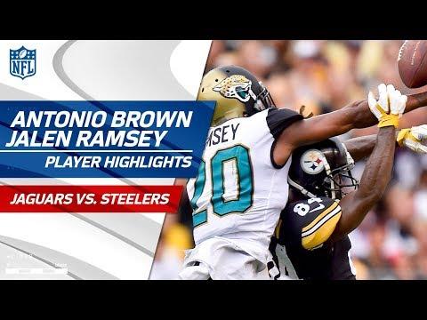 Antonio Brown Battles Jalen Ramsey!   Jaguars vs. Steelers   Wk 5 Player Highlights
