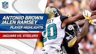 Antonio Brown Battles Jalen Ramsey! | Jaguars vs. Steelers | Wk 5 Player Highlights