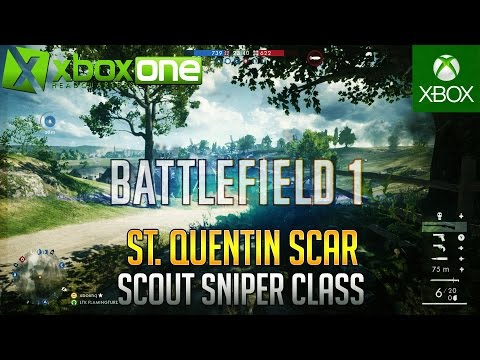 Battlefield 1 Scout Sniper SMLE Mark III Marksman Xbox One Conquest Gameplay (24-13) ᴴᴰ 1080/60fps